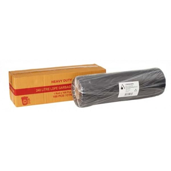 240L GARBAGE BAGS *100/ROLL* (ON ROLL)-SYDNEYCLEANINGSUPPLIES