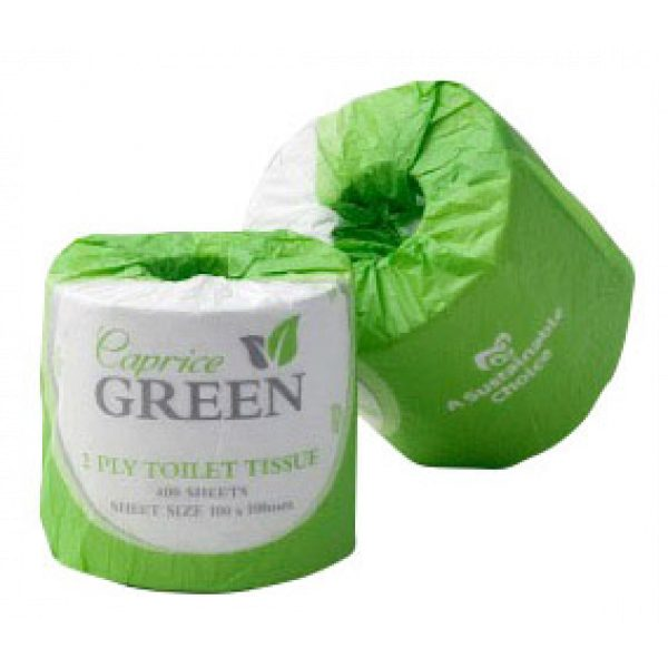 RECYCLED GREEN TOILET PAPER (2ply 400s)-SYDNEYCLEANINGSUPPLIES