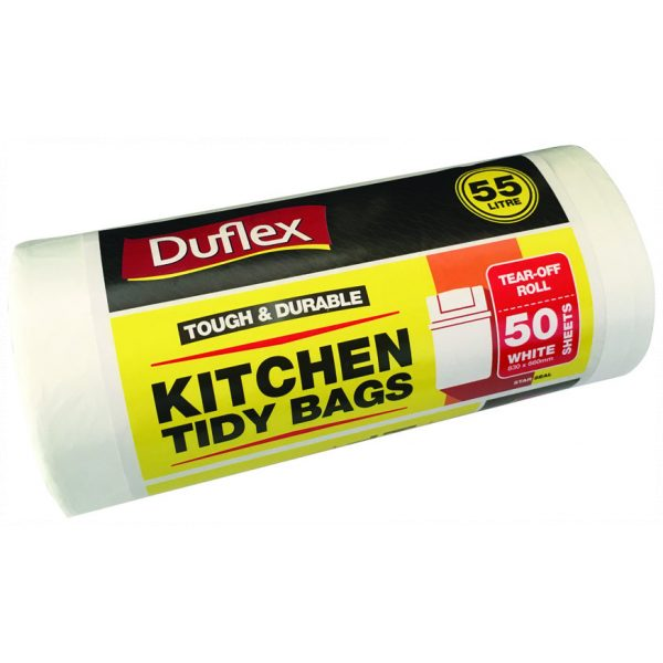 OFFICE & KITCHEN TIDY LINERS 55L (WHITE)-SYDNEY CLEANING SUPPLIES