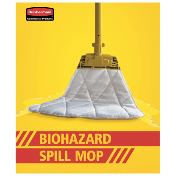 RUBBERMAID BIOHAZARD SPILL MOP KIT-SYDNEY CLEANING SUPPLIES