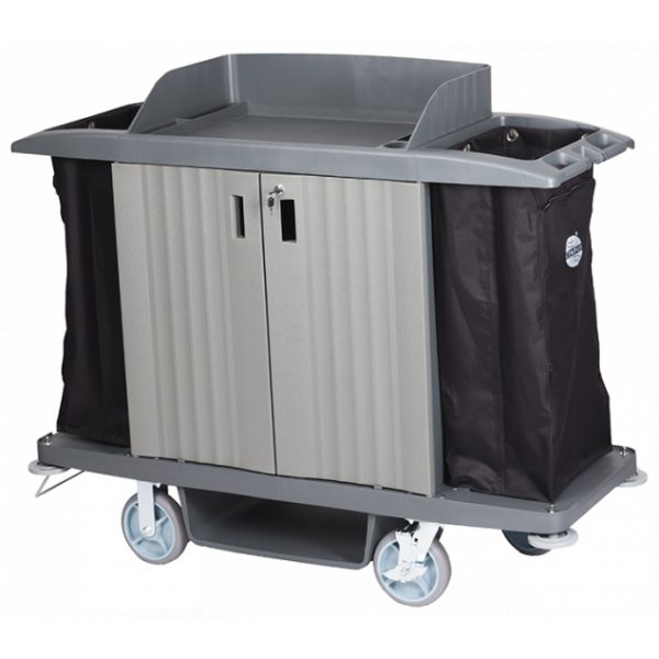 COMPASS HARD FRONT HOUSEKEEPING TROLLEY -SYDNEYCLEANINGSUPPLIES