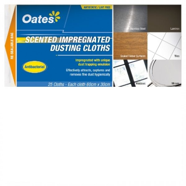 OATES SCENTED IMPREGNATED DUSTING CLOTHS (25PACK)-SYDNEYCLEANINGSUPPLIES