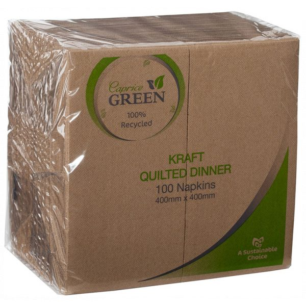 CAPRICE GREEN QUILTED DINNER NAPKINS-SYDNEYCLEANINGSUPPLIES